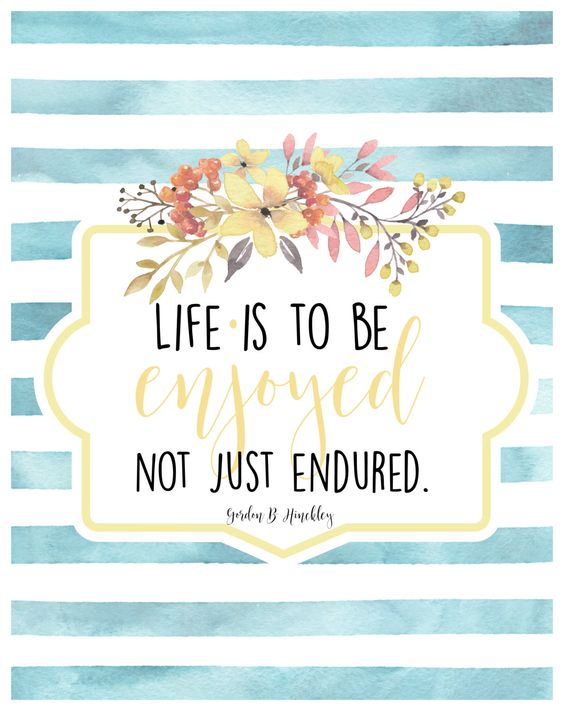 Life is to be enjoyed, not just endured.jpg
